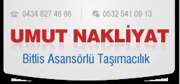 UMUT NAKLİYAT - Bitlis Asansörlü Taşımacılık